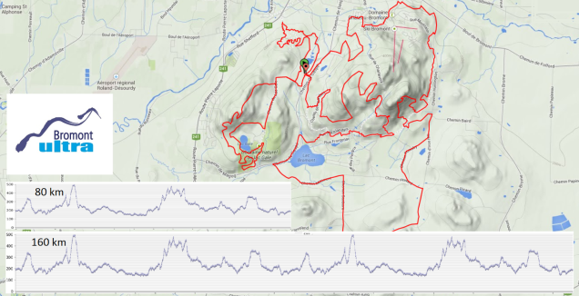 Bromont Ultra 80 and 160 km course